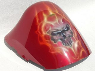 Suzuki GSXR1300 Hayabusa   Rear Seat Cowl [New CUSTOM Flaming Skull
