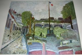 Vintage Print Pont Neuf by Maurice Utrillo 1953 ✿