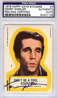 Henry Winkler Autographed Signed 1976 Topps Happy Days Card PSA DNA