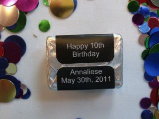 90 Personalized Harry Potter Birthday Party Candy Wraps