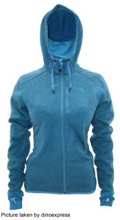 NEW North Face Womens HAYES HOODIE fleece jacket BLUE size M nwt