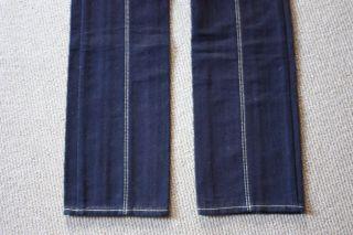 850 New Tags Louis Vuitton Sz 40 Jeans Denim Dark Blue Gold Stitching