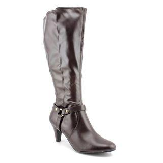 Karen Scott Henson Womens Size 6.5 Brown Synthetic Fashion   Knee High