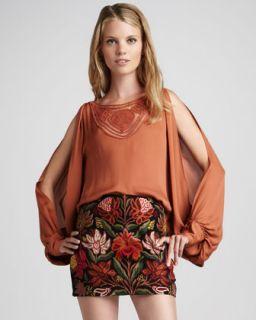 Haute Hippie Embroidered Miniskirt