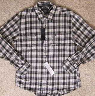 Tommy Hilfiger Premium Plaid Shirt Mens L XL $49 99