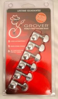 Grover 406C6 6 in Line Mini Self Lock Tuning Machine Heads Fender