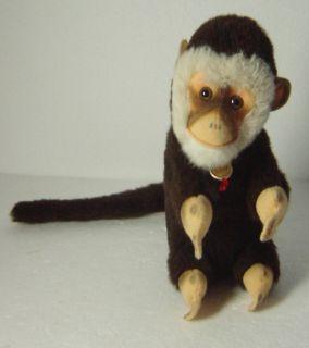 Cute Vintage 70s Hermann Plush Monkey Chimpanzee with Tag