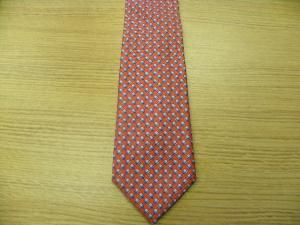 be 100 % authentic or your money back hermes red silk tie with white