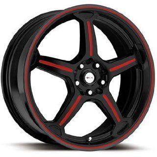 Focal F 01 16x7.5 Black Red Wheel / Rim 5x100 & 5x4.5 with a 42mm