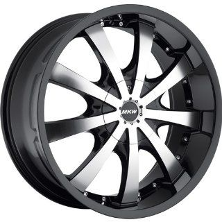 MKW M102 22 Black Wheel / Rim 5x115 & 5x120 with a 18mm Offset and a