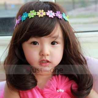 Flower Baby Girls Kids Elastic Skinny Hair Band Decor Headband