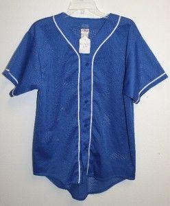 High 5 Short Sleeve Mesh Button Baseball Jersey Adult M