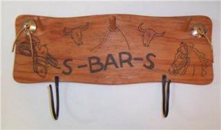cowboy coat hat hanger horseshoe hooks rustic western decor