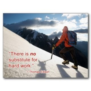 Substitute To Hard Work Postcard