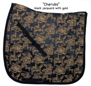 Black Cherub Angel Dressage Saddle Pad Show Freestyle Baroque