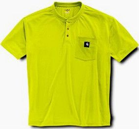 Carhartt High Visibility Henley Pocket T Shirt Small