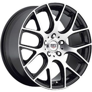 Rev 201 18 Machined Black Wheel / Rim 5x4.5 with a 35mm Offset and a