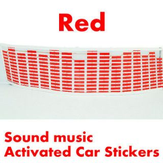 Red Sound music Activated Car Stickers Equalizer Glow 12V LED Light 45