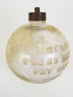 Antique W M Heap Sons Iridescent Glass Toilet Tank Float Vintage