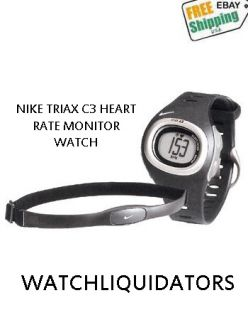 Nike Triax C3 Heart Rate Monitor Sport Watch Chrono Water Resistant