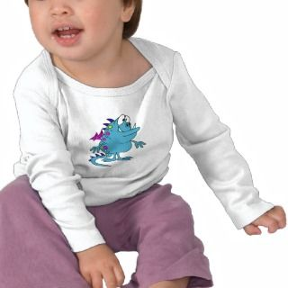 cute blue dragon monster creature tee shirts