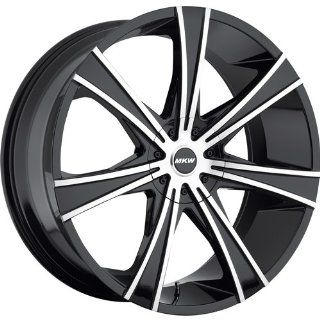 MKW M108 22 Black Wheel / Rim 5x115 & 5x120 with a 18mm Offset and a