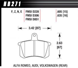 Hawk HPS F&R Brake Pads HB270F.724A HB271F.635