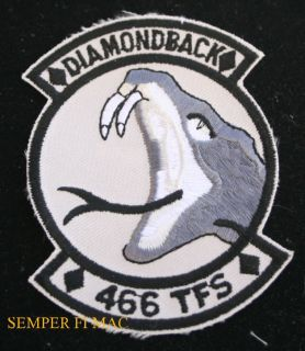 466 TFS Diamondback Patch US Air Force Hill AFB