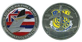 Hickam Air Force Base Hawaii 25th alw Challenge Coin