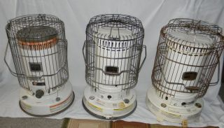 LOT OF 3 KEROSENE HEATERS HEATER KERO SUN DYNA GLO 23 000 BTU PICK UP