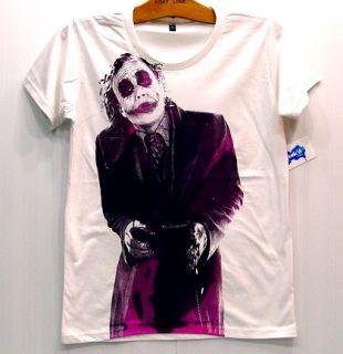 Joker Heath Ledger Retro T Shirt Vintage Batman S