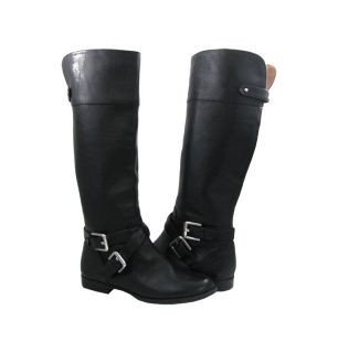 New Calvin Klein Womens Hayden Waxy Tumbld Leather Black Boot 5 5
