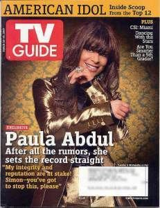 TV Guide 3 07 Paula Abdul Kyle Chandler Heather Mills