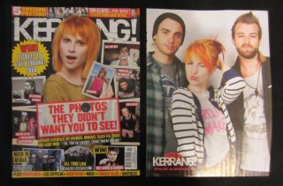Paramore Hayley Williams KERRANG Poster and Mag Cover