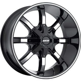 MKW Offroad M81 20 Black Wheel / Rim 8x180 with a 10mm Offset and a