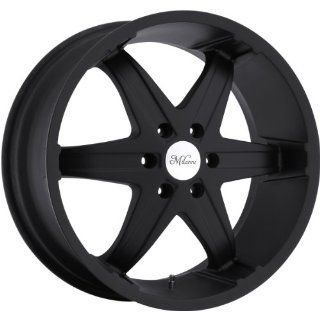 Milanni Kool Whip 6 22 Black Wheel / Rim 6x5.5 with a 18mm Offset and