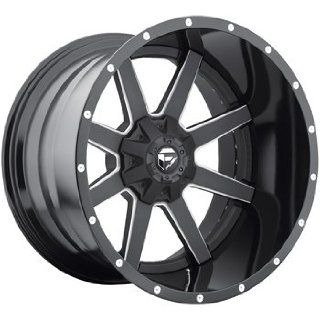 Fuel Maverick 20 Black Wheel / Rim 8x170 with a  44mm Offset and a 125