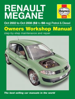 HAYNES WORKSHOP REPAIR OWNERS MANUAL RENAULT MEGANE PETROL & DIESEL 52