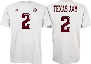 Texas A&M Aggies Black Jersey Name and Number T shirt Clothing