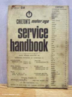 1971 Chiltons Motor Age Service Handbook Car Truck Vintage