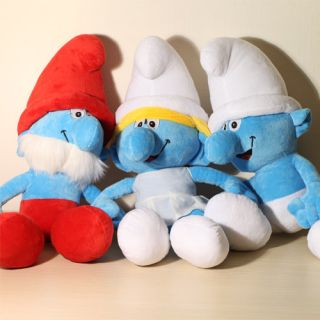The Smurfs Movie 16 Smurfs Stuffed Plush Doll Toy Smurfette