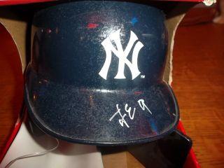 Hideki Matsui Autographed Mini Baseball Helmet Signed in Japanese