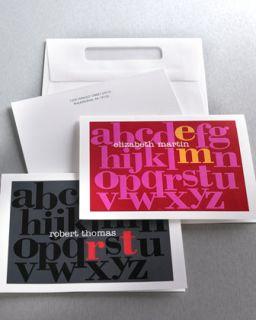 neimanmarcus 20 alphabet notes envelopes