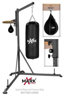 heavy bag stand with adjustable speed bag platform xm 2841