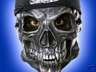 Road Rage Biker Skull Heavy Metal Vinyl Mask