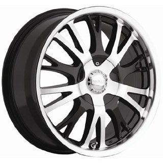 Akuza Drift 17x7.5 Machined Black Wheel / Rim 4x100 & 4x4.5 with a