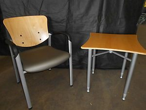 Haworth Brand Improv Model Side Chair with Matching Table Included