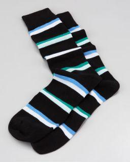 robert kardashian rugby stripe men s socks black $ 30 exclusively ours