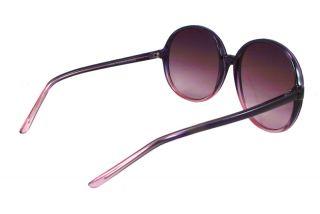 Vintage Women Large Round Purple Hippie Sunglasses 1245