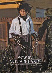 Movie Poster Edward Scissorhands Johnny Depp Hedges